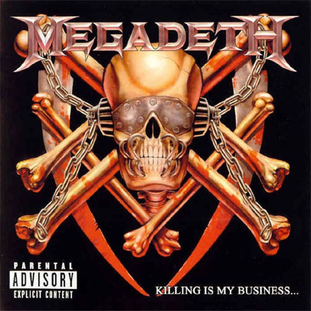 Megadeth's Vic Rattlehead – The skeletal figure with eye visor and clamped mouth has appeared on a number of the thrash metal band's albums, including a return after an 11 year hiatus on 2001's 'The World Needs A Hero'. Nice.