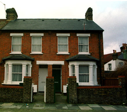 Late Queen frontman Freddy Mercury lived at the house on the right in Gladstone Road, Southall, London.