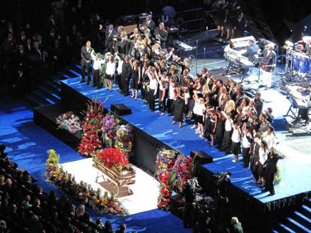 Michael Jackson Body in Casket Open