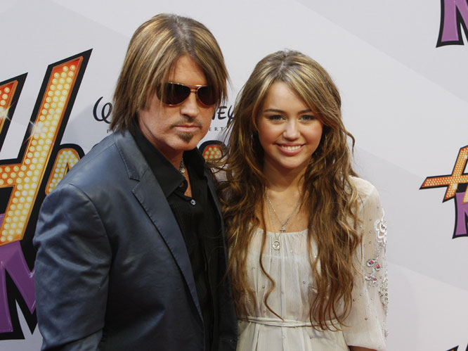 Miley and Billy Ray Cyrus: These two have duetted a number of times, including songs such as &#39;&#39;Stand&#39;&#39; and &#39;&#39;Ready, Set, Don&#39;&#39;t Go&#39;&#39; which gave us all achy-breaky ears. 