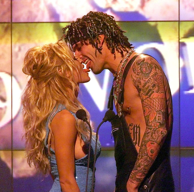 Pamela Anderson and Tommy Lee - After only knowing the Motley Crue drummer for 96 hours Pamela Anderson married Tommy Lee on a beach in 1995. The pair went on to have two kids as well as two divorces.