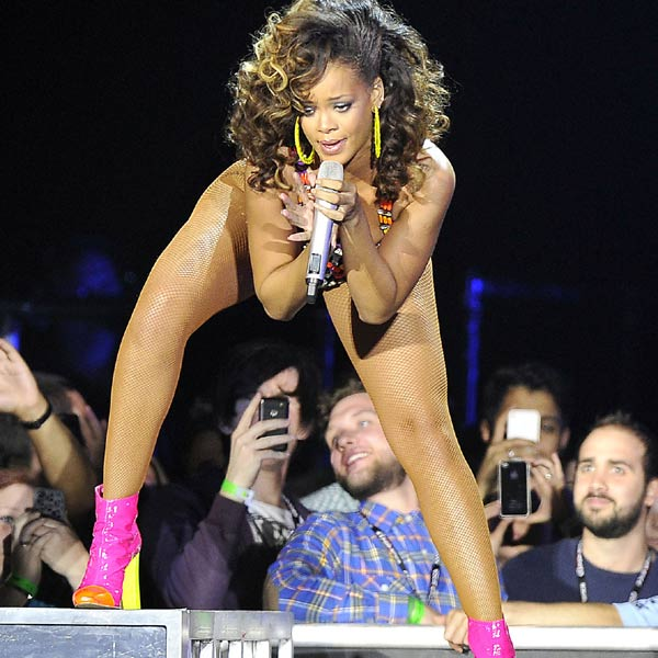 Never known for her love of warm clothes, Rihanna's live shows are the place to go to see the star flash her flesh.