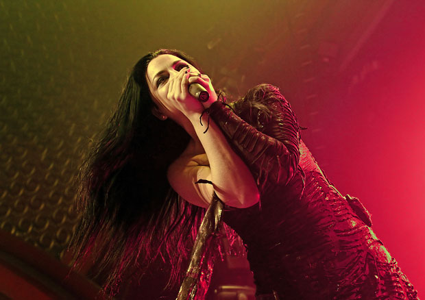 Evanescence perform live at the Apollo, Manchester, England (07/11/11).