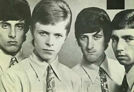 The promo photo from Bowie's 1965 single 'You've Got a Habit of Leaving' under his real(ish) name Davy Jones  and his band The Lower Third. He later dropped the 'Davy' to avoid confusion with The Monkees member of the same name