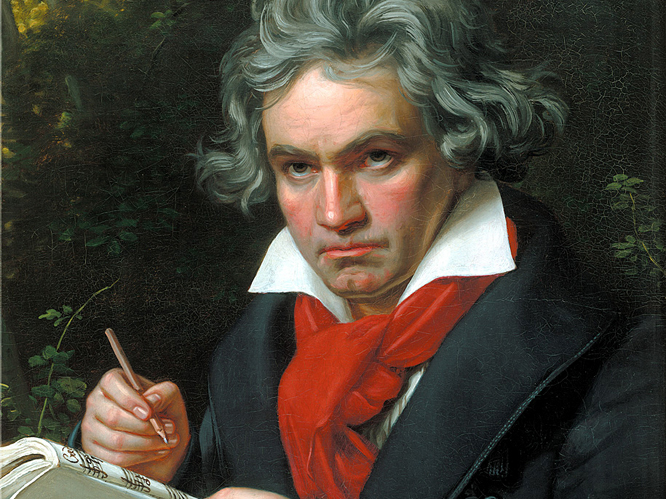 Ludwig van Beethoven's manuscript for his 9th Symphony went for �2.1 million in London in 2003. The composer was originally paid just �100 for the whole composition.