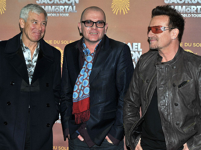 Adam Clayton, Bono and 'friend'