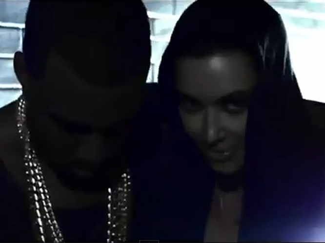 Kim appears in his new video for the track ''Cold''. Just spend five minutes apart please guys! It must be written in their relationship contract that at no point can the couple be more than five yards apart. It''s like the opposite of a restraining order, and it gets you loads of publicity.