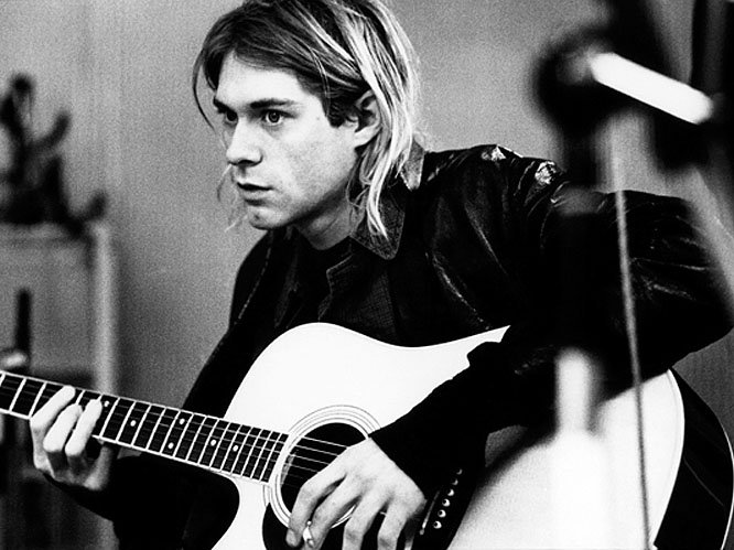 Kurt Cobain - 1967-1994: The iconic grunge frontman and songwriter for Nirvana achieved a huge breakthrough with their second album Nevermind in 1991 which featured tracks like 'Smells Like Teen Spirit'. He battled with heroin addiction and severe depression. His body was discovered days after his suicide with a gun shot wound to the head.