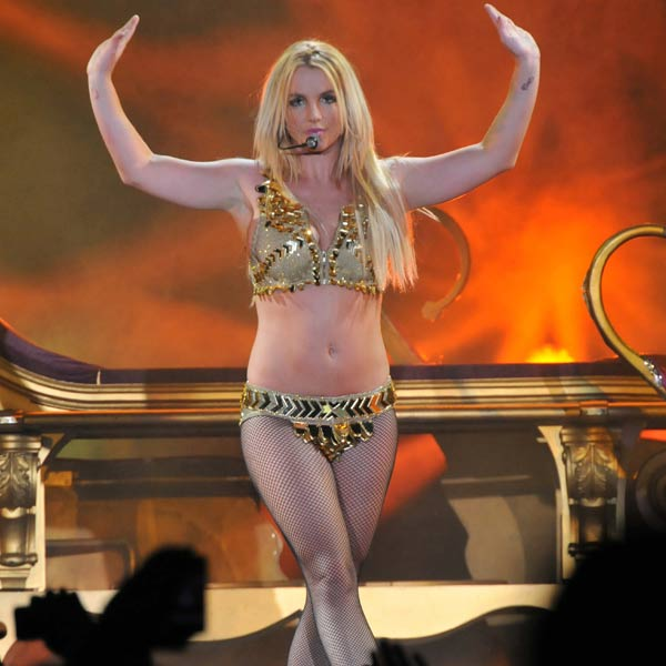 A professional clothes-dropper, Britney Spears has returned to her nearly-naked best in recent years.