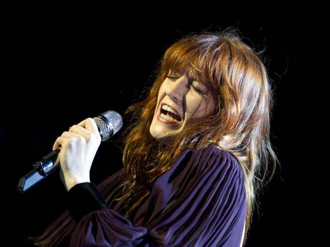 Florence Welch: The singer stopped a concert halfway through in order to jump into the crowd barefoot and break up a fight. She told the audience,