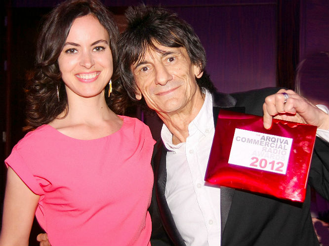 Ronnie Wood and fiance Sally Humphries. The couple have been dating since early 2012.