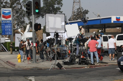 The world's media wait outside the Los Angeles Coroner's Office for information about Michael Jackson's death.
