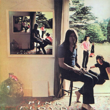 Pink Floyd: 'Ummagumma' (1969) On first impression the sleeve shows a series of mirrors reflecting the same image over and over. However, when you look closer you realise the band members switch positions on each mirror image.