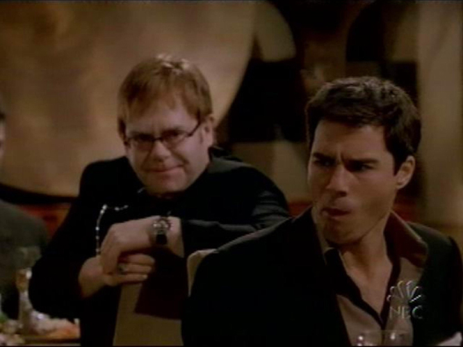 And finally, Elton John rocked a 2002 episode of 'Will & Grace' by appearing as himself - and also the head of the gay mafia.