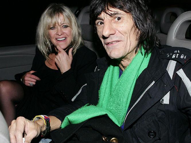 Ronnie and Jo Wood (the couple split in 2008)