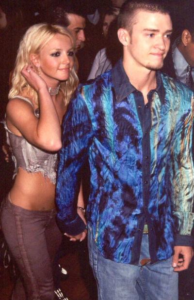 Britney Spears & Justin Timberlake - Meeting on The Disney Show while children, the love soon blossomed between these two to make them the most idiolized celebrity couple of the 1990s.