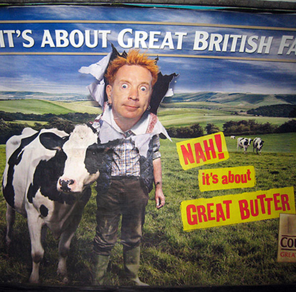 Johnny Rotten, known for anarchy and punk rock, chose to star in this advertising campaign for Country Life butter. Awkward and embarrassing to watch, the adverts prompted bemusement from everyone who watched them. Still, it's worth noting that the adverts, which showed Johnny in tweeds and the countryside, helped lift sales of the brand by 85%. Having watched it a few times, we still can't work out why.