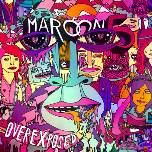 Maroon 5 'Overexposed': No this is not an acid flashback, it is indeed Maroon 5's hideous new album cover. Only good point to the artwork is that it doesn't any Adam Levine nudity. A hollow victory for mankind.