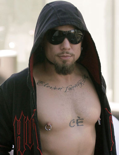 Dave Navarro: It's never a good idea to get a tattoo of your wife's initials