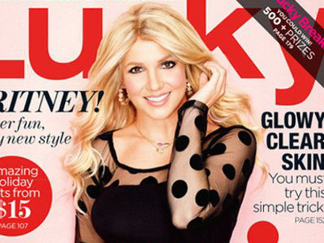 Britney Spears on the cover of US style magazine, Lucky.