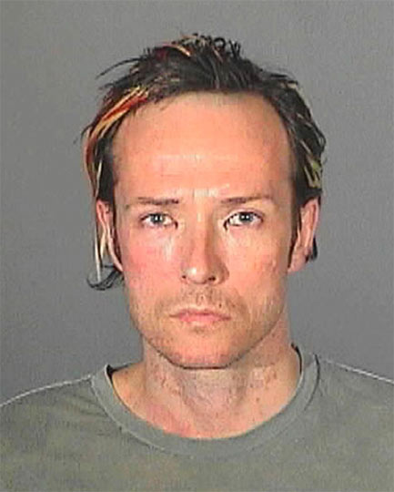 Scott Weiland – The ex-Velvet Revolver singer upon his arrest for drink driving in May 2008. He was handed a probation, fined $2,000 and ordered to check into rehab for his crimes.