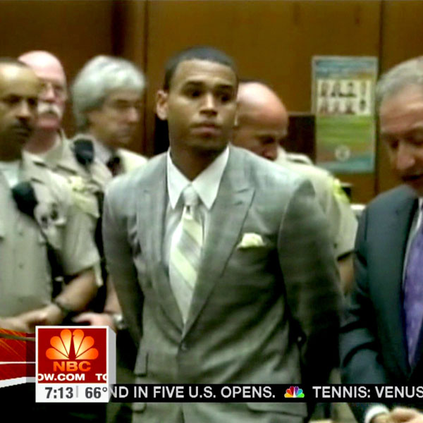 Chris Brown: The 'Turn Up The Music' star was charged with attacking his then-girlfriend, Rihanna en route to the Grammy Awards in 2009. It is alleged that the couple were arguing in their car, which Rihanna tried to escape before the violence escalated. The 'We Found Love' singer has recently announced that she has forgiven her ex for the attack and the pair duetted on a remix of her track 'Birthday Cake'.