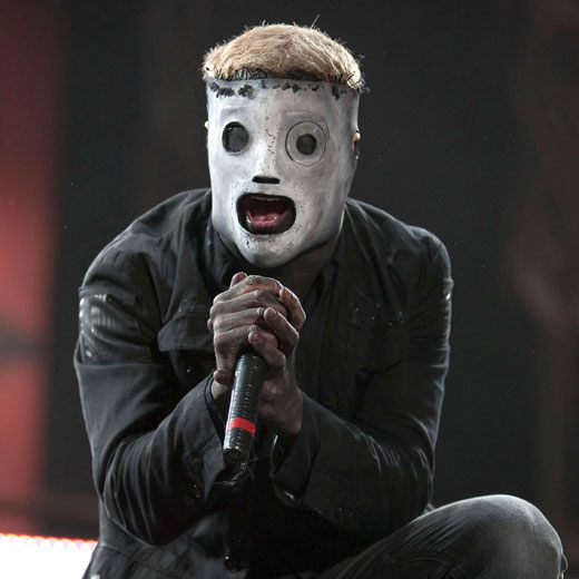 Slipknot frontman Corey Taylor in his day job, scaring children and starting mosh pits.