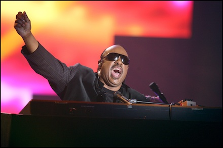 Stevie Wonder on the Pyramid Stage