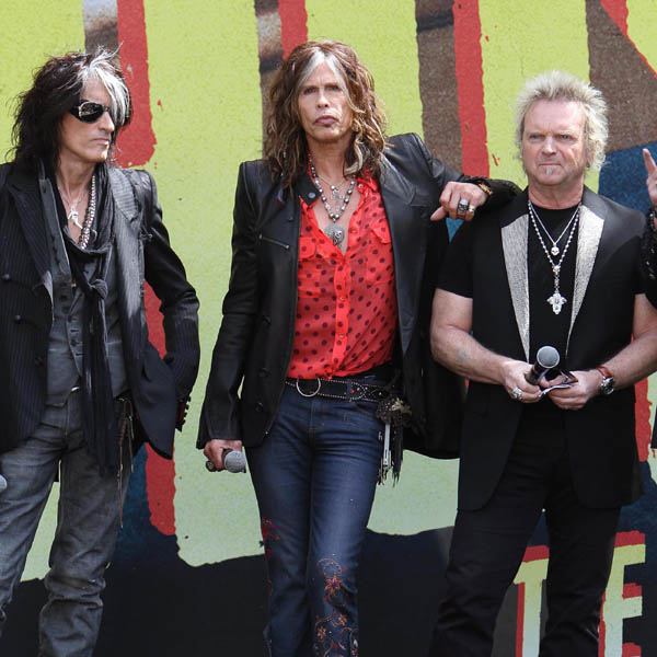 AEROSMITH: The bands last studio album 'Honkin On Bobo' was released back in 2004. Their new record 'Music From Another Dimension' will be released in August.