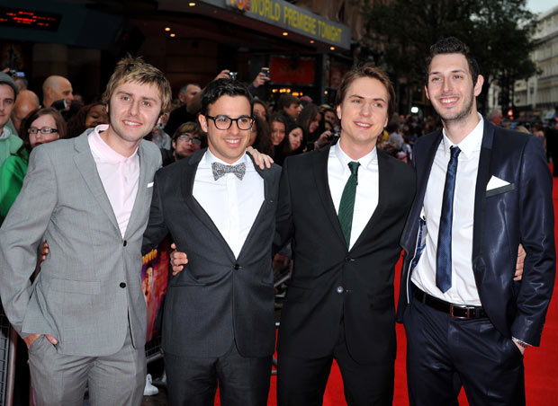 Jay Buckley, Simon Bird, Joe Thomas and Blake Harrison