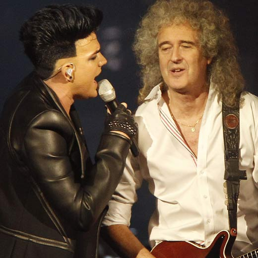 American Idol runner-up Adam Lambert is currently on frontman duties with Queen, and following the cancellation of this year's Sonisphere fesitval, the new line-up will perform two dates in London in July.