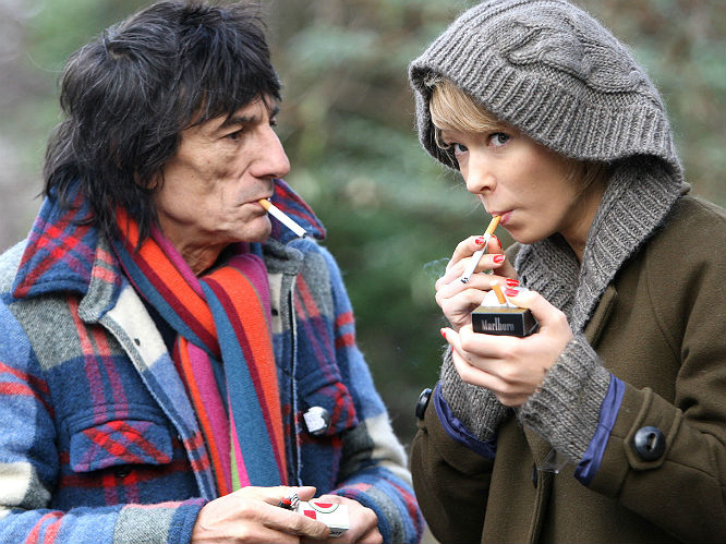 Ronnie Wood and Ekatarina Ivanova (July 2008 - December 2009)