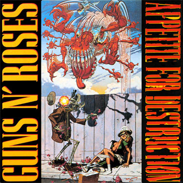 Eventually Guns N' Roses agreed to have the artwork on the inside sleeve and