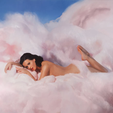 Katy Perry - 'Teenage Dream' (2010) - Nestled on a cotton-candy cloud on the cover of her new album 'Teenage Dream', Katy Pery certainly knows how to play the provocative card. Painted by Will Cotton, the album, which was released in August 2010, won't feature any text.