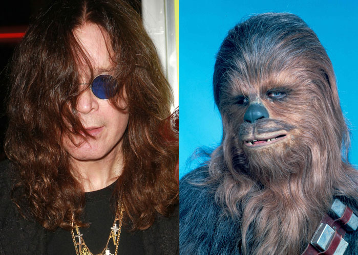 Both Ozzy Osbourne and Chewbacca are covered in hair - and neither of them make much sense when speaking out loud.