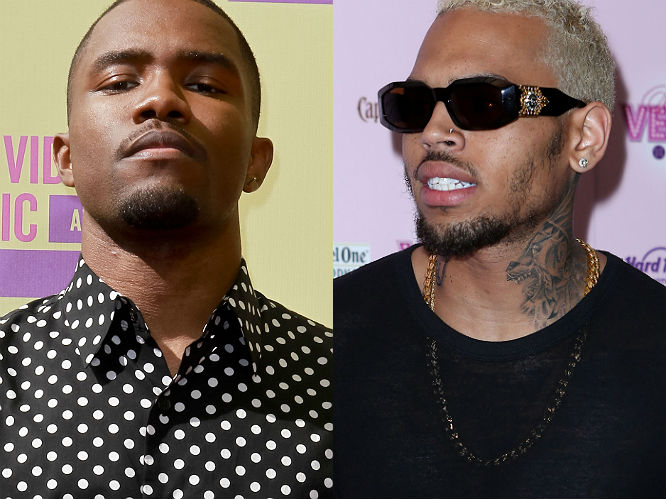 Chris Brown vs Frank Ocean: Chris Brown first fell out in 2011, during a Twitter fight over a lack of commercial success for his group Odd Future. The feud escalated this week, when Brown and Ocean came to blows outside an LA recording studio. Ocean accused Brown of 'jumping' him and the pair, along with their entourages, traded punches in the street.