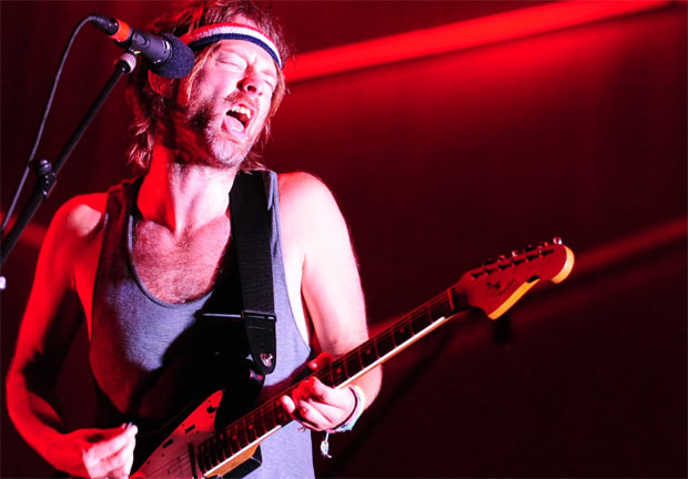 Thom Yorke of Radiohead hits the high note...literally.