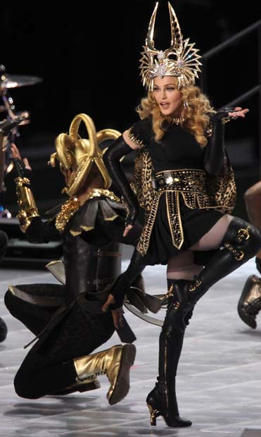Madonna Performs at The Super Bowl 2012