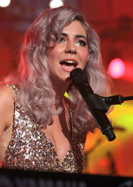 Marina and the Diamonds @ Mencap's Little Noise Sessions held at St John's Church in Hackney, London (23/11/11).