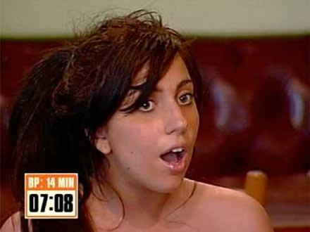 An 18-year-old Stefani Germanotta appears on MTV's 'Boiling Points'  - a reality show which puts unsuspecting subjects in irritating situations and awards them $100 if they stay cool and collected for the duration of the prank. Gaga didn't stay the distance! - 2005