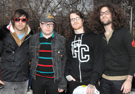 Fall Out Boy perform sans instruments in Washington Square Park, New York