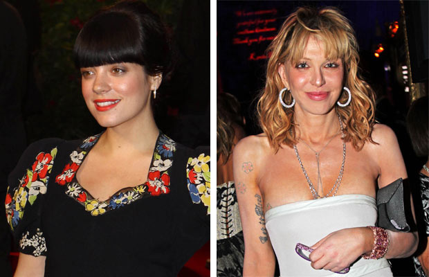 "Lily Allen vs Courtney Love: A war of words erupted between these two in March 2010 when Love claimed Allen had put a ""lockdown"" on certain clothes at an awards ceremony. ""Why would anyone put a 'lock' on clothing…does that shit really happen? Crazyness!"" Allen responded, before adding to a fan who asked her if it was true: ""No but it's the sort of thing a paranoid drug addled lunatic might come up with."""