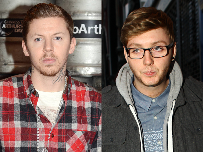 Professor Green was outraged when he was repeatedly tweeted that he looked like X Factor contestant James Arthur.  He took to Twitter to express his annoyance,