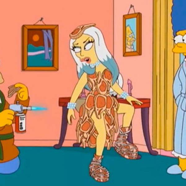 Lady Gaga: Just recently recorded a cameo for the 23rd season finale of The Simpsons. Gaga is one of the latest to cameo in the cartoon in the episode 'Lisa Goes Gaga'