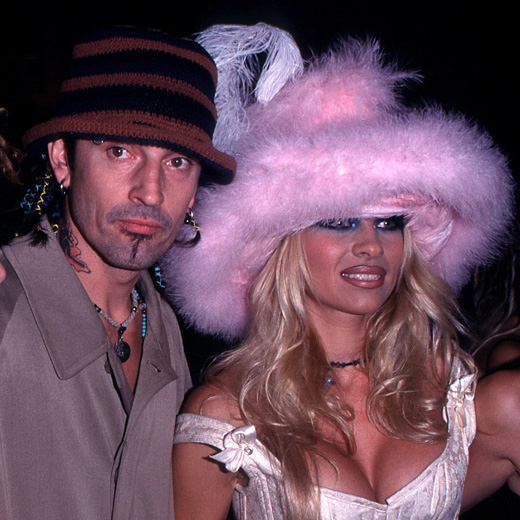 Tommy Lee Jones (Motley Crue) & Pamela Anderson - Pamela Anderson and then-husband Tommy Lee had various 'intimate moments' from their honeymoon leak online by Seth Warshavsky of the Internet Entertainment Group in 1998 as one of the earliest internet celebrity sex tapes.