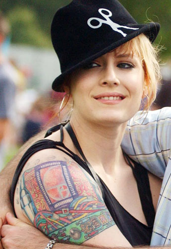 Ana Matronic: From where we're looking the tattoo looks like a futuristic