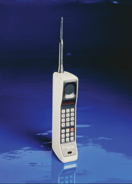 Motorola DynaTAC 8000X (1983) - The world's first mobile phone, costing in excess of $1000.
