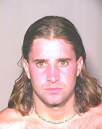 Scott Stapp  Amazingly the Creed singer wasn&#39;t arrested for crimes against music. Nope, the above photos comes from when he was arrested for reckless driving back in 2002. 
