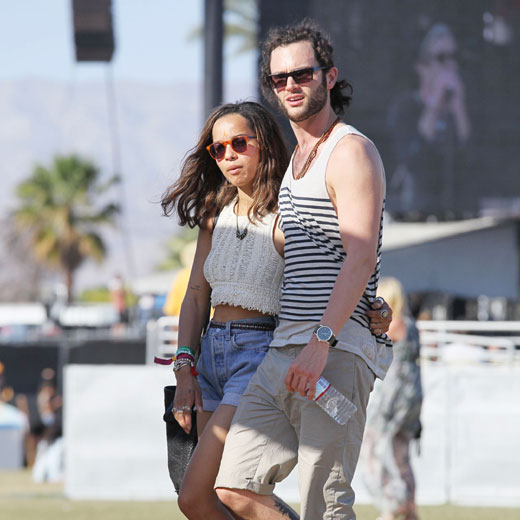 Penn Badgely and Zoe Kravitz
