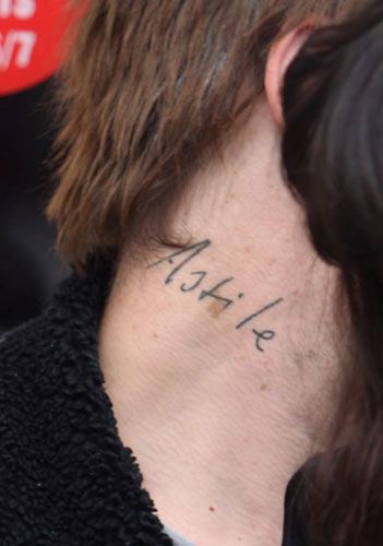 Name Tattoo On Neck